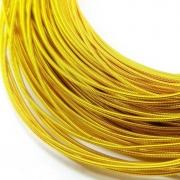 Канитель жесткая 1мм Dark gold 0043 (1метр)
