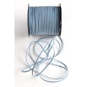 Шнур бархатный 2,5х1 мм (2 метра) голубой