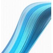 """Полоски для квиллинга """"Голубой микс"""" А 04-03-100 (3 мм 100 шт.)"""