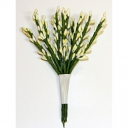 Декоративный букетик белый 022А (12шт.)