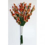 Декоративный букетик оранжевый 022J (12шт.)