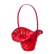 Корзина плетеная бамбук d21/13xh14/29см шляпка красная