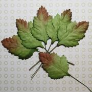 Листочки бумажные для скрапбукинга 4см (10шт.) зеленые