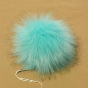 Помпон иск.мех 15см PIP03 голубой