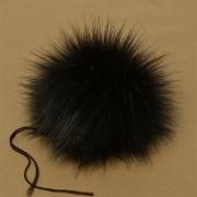 Помпон иск.мех 15см PIP02 черный