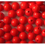 Бусины акрил BSA 8 мм красный (10 шт.)