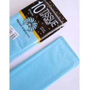 Тишью бумага 50х66см светло-голубая (10 листов)