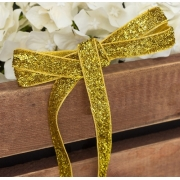 Лента бархатная металлизированная с люрексом 10мм (1метр) золото