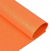 Фоамиран глиттерный 2мм 20х30см оранжевый