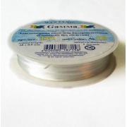 Спандекс без оплетки резина DS 1 мм белая (18 метров)