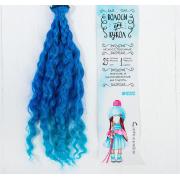 Волосы - тресс для кукол «Волны» длина волос: 25 см, ширина: 100 см, №LSA039