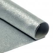 Фоамиран глиттерный 2мм 20х30см серебро