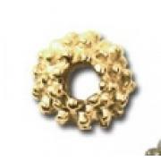 Бусины разделительные рондель Dc-010 2 мм (10шт.) под золото