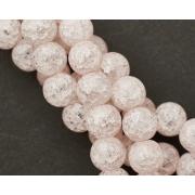 Бусины битый (сахарный) кварц 6мм (10шт.) светло-розовый