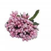 Декоративный букетик (12шт.) розовый
