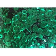 Пайетки 6 мм 10 г зеленые
