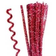 Проволока  синельная металлик 30 см розовый, 50 шт