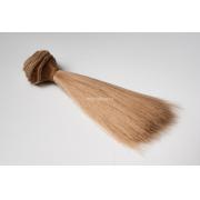 Волосы - тресс для кукол «Прямые» длина волос: 15 см, ширина:100 см, цвет № 22Т