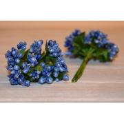 Декоративный букетик, темно-синий 12 шт