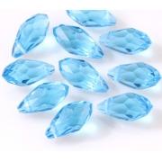Бусины стекло капли граненые 5х12 мм (5 шт.) голубые