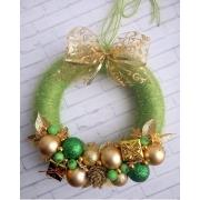 Венок новогодний зеленый