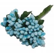 Декоративный букетик (12шт.) голубой