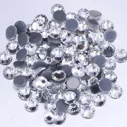 Термоклеевые стеклянные стразы 6.5 мм (прозрачные) 72 шт.
