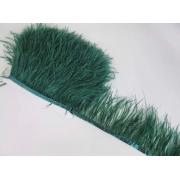 Перья страуса на ленте (48см) зеленый изумрудный