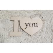 """Декоративный элемент """"I love you"""" (выс.10см)"""