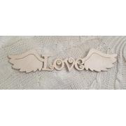 """Декоративный элемент """"Love с крыльями"""" (длина40см)"""