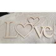 """Слово """"Love с сердцем"""" (длина40см)"""