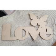 """Слово """"Love с бабочкой"""" (длина40см)"""
