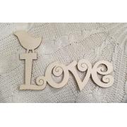 """Слово """"Love"""" с птичкой (длина30см)"""