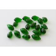 Бусины стекло капли граненые 5х12 мм (10шт.) зеленые
