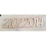 Дата на заказ 50 см шрифт Nautilus pompilius