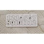 Цифры арабские №5 выс.3 см (картон)