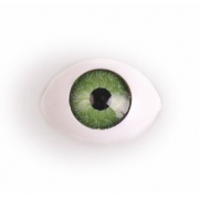 Глазки пластик 11х16 мм Зеленые (пара)