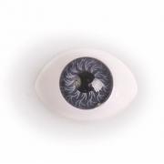 Глазки пластик 14х19мм мм Серые (пара)