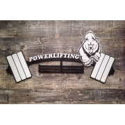 "Медальница ""Powerlifting"", ручная роспись, 32х65см"