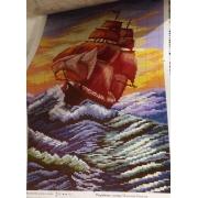 """Схема для вышивки """"Корабль"""""""