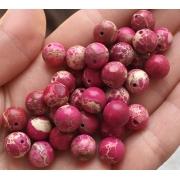 Варисцит меланж розовый 8мм (4шт.)