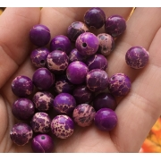 Варисцит меланж фиолетовый 8мм (4шт.)