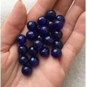 Агат темно-синий 10мм (4шт.)