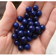 Агат темно-синий 8мм (4шт.)