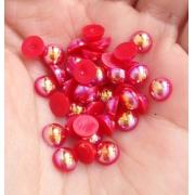 Набор полужемчужин 6мм (100шт.) красный перламутр