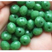 Чешское стекло 8 мм Зеленые непрозрачные (10шт.)