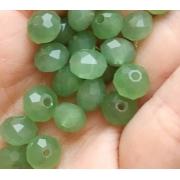 Чешское стекло 8 мм Мутно-зеленые (5 шт.)