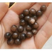 Агат коричневый 8мм (4шт.)