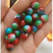 Керамика меланж красно-зеленый 10мм (4шт.)
