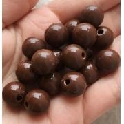 Бусины акрил BSA12 12 мм шоколад (4 шт.)
